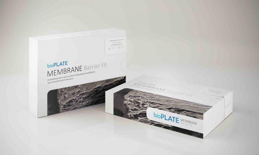 bioPLATE Membrane Barrier Резорбируемая двухслойная барьерная мембрана